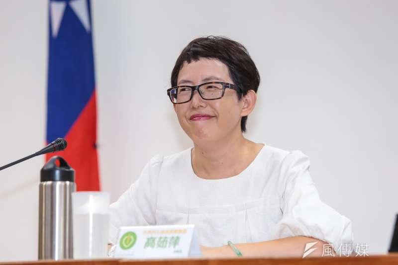 台灣再生能源推動聯盟理事長高茹萍27日出席「台灣陽光屋頂的未來願景」公聽會。(顏麟宇攝)