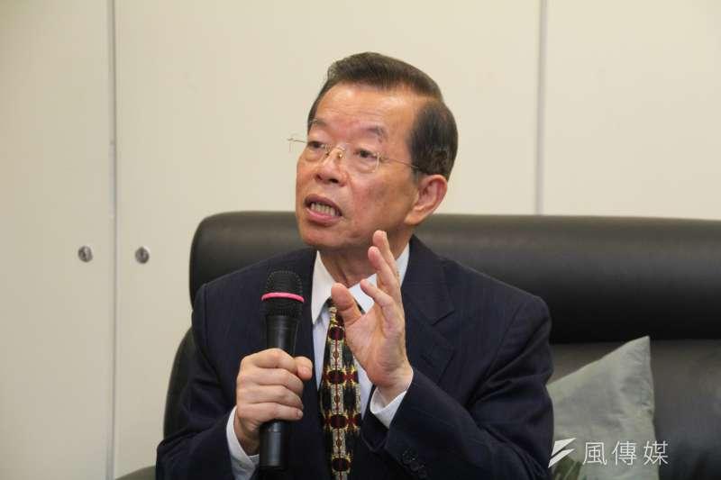 駐日代表謝長廷舉辦長工媒體茶敘。(王德為攝)