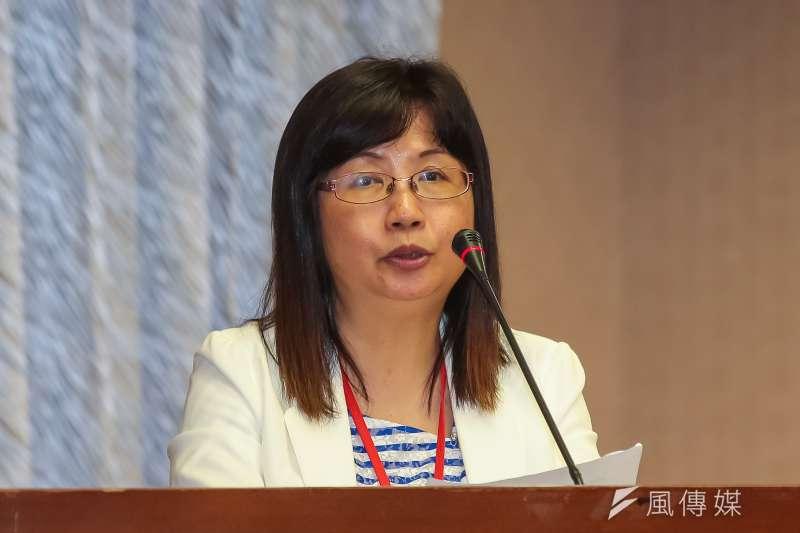 衛福部次長呂寶靜17日出席「食物銀行法草案」公聽會。(顏麟宇攝)