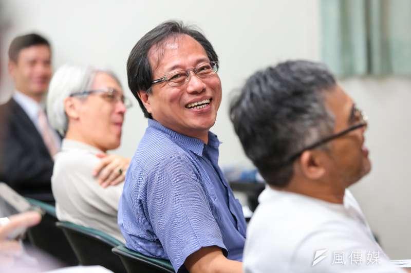 全國公務人員協會理事長李來希18日出席年金改革的社會對話系列座談。(顏麟宇攝)