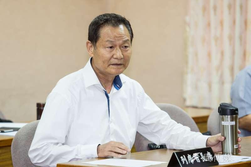 退輔會主委李翔宙23日於國防委員會備詢。(顏麟宇攝)