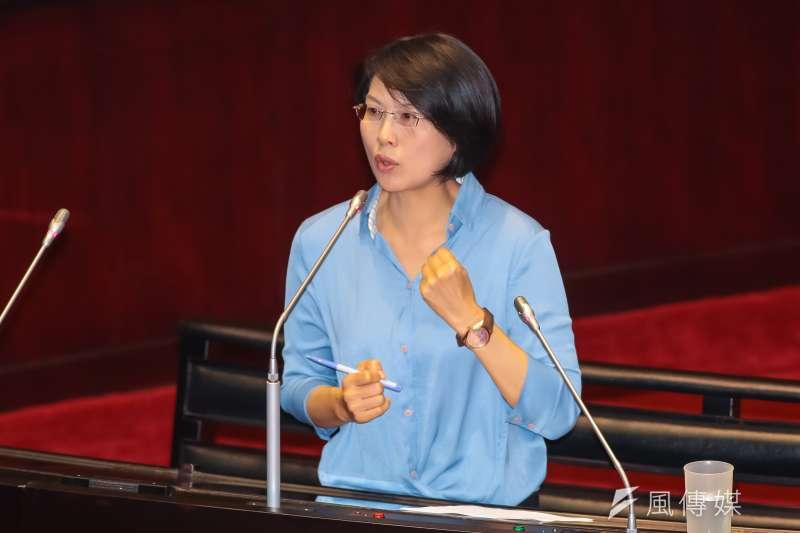 民進黨立委林岱樺24日於立院質詢。(顏麟宇攝)