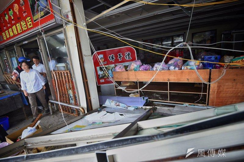 尼伯特颱風重創綠島,人權文化園區也遭受破壞。(總統府提供)