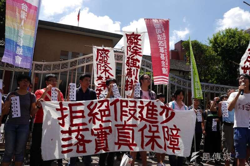 民進黨政府上台後,有多項承諾未落實,集遊法就是其中一項。(資料照片,洪與成攝)