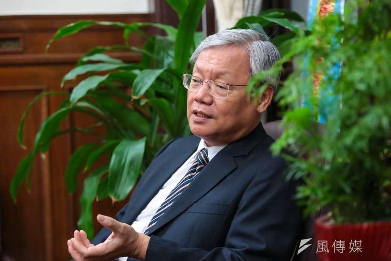 司法院副院長蘇永欽12日接受專訪。(顏麟宇攝)