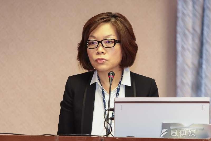 行政院副秘書長何佩珊表示,去年也身兼跟黨團溝通角色,對黨籍立委的許多加碼,她的抗拒力低,並沒有想到會有麼後果。(顏麟宇攝)