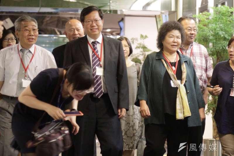 作為民進黨最有實力派系,新系共有鄭文燦、陳菊、賴清德3位直轄市長,也確保他們在權力改組過程中拿下佳績。(曾原信攝)