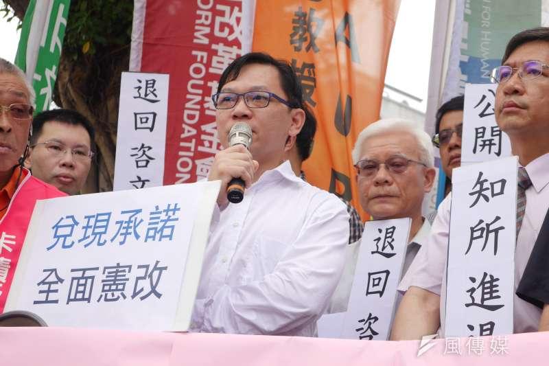 2016-07-19-「監督大法官聯盟」記者會03-邱文聰-洪與成攝