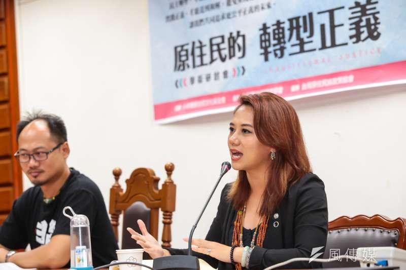 LIMA台灣原住民青年團團長洪簡廷卉Tuhi Martukaw原列民進黨不分區第一名,後來卻移出。(資料照片,顏麟宇攝)