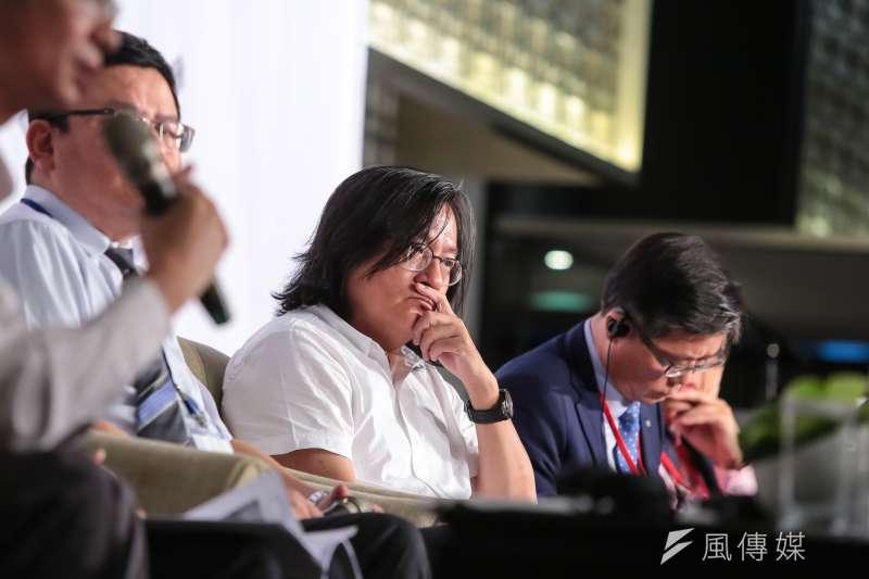台北市都發局長林洲民3日出席「公辦都更及公共住宅」論壇活動。(顏麟宇攝)