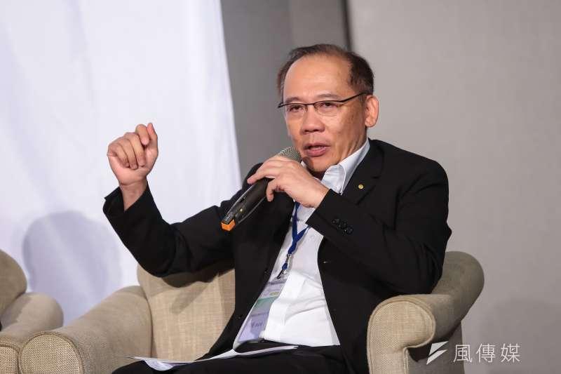 昇陽建設總經理簡伯殷3日出席「公辦都更及公共住宅」論壇活動。(顏麟宇攝)