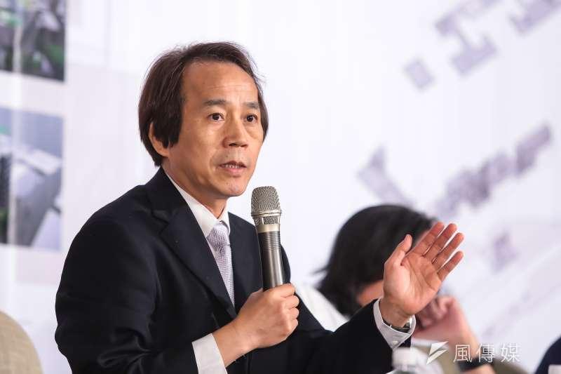 台北市副市長林欽榮3日出席「公辦都更及公共住宅」論壇活動。(顏麟宇攝)