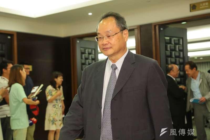 寶成集團越南鞋廠位於同奈省邊和市(Bien Hoa),聘用約1萬8000名當地員工,薪資引發爆動。圖為寶成董事長詹陸銘。(資料照,顏麟宇攝)