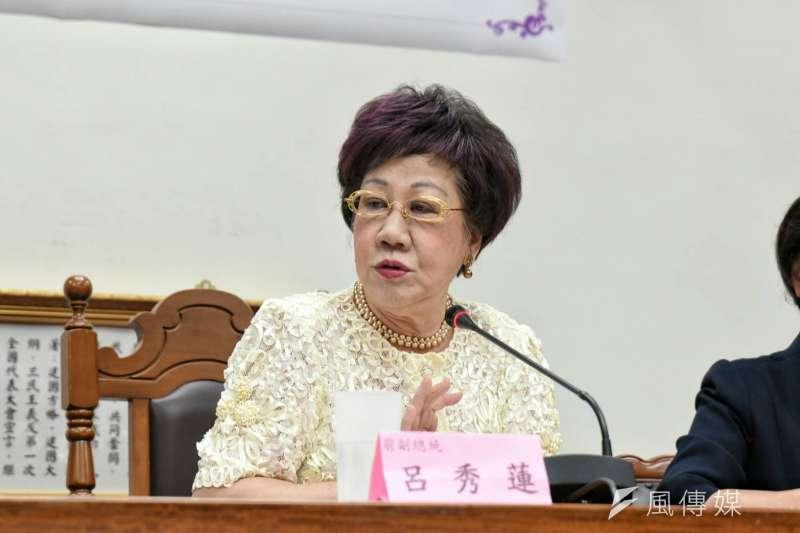 前副總統呂秀蓮今(17)日受訪時表示,政黨的政治應該要堅守政黨的倫理,若民進黨在不提名,就是自貶黨格。(資料照,林惟崧攝)