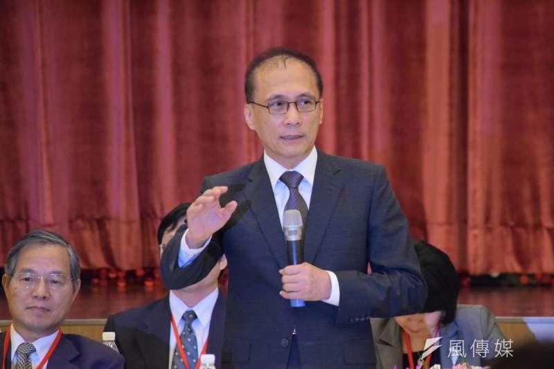 行政院長林全23日出席全國工業團體領袖會議(陳伯聖攝)