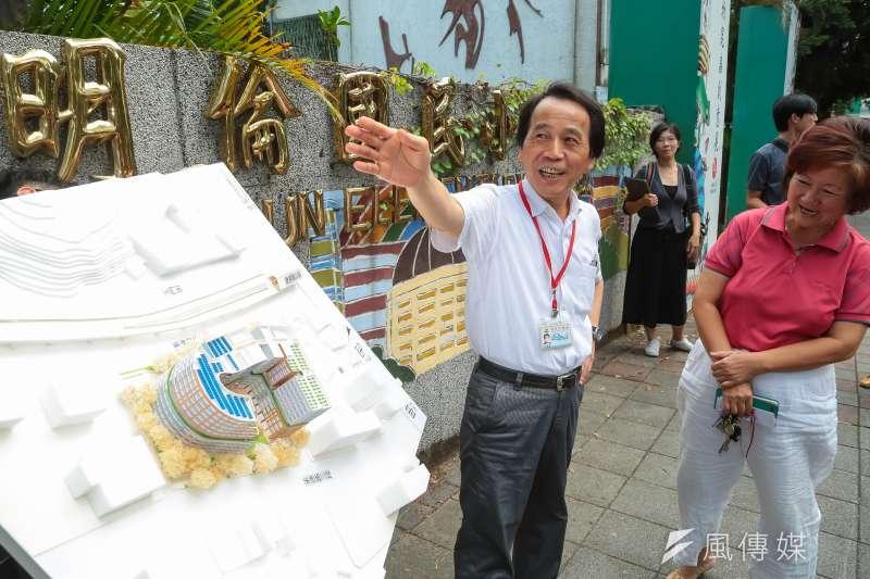 圖為台北市副市長林欽榮主持「北市明倫公宅智慧社區統包工程招標案」起跑記者會。(顏麟宇攝)