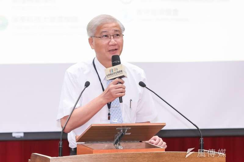 20160830-台大校長楊泮池30日出席「2016台灣食品安全高峰會」。(顏麟宇攝)
