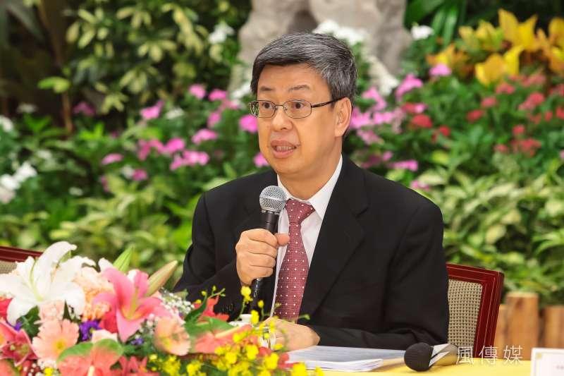 國家年金改革委員會召集人也是副總統的陳建仁17日接受專訪表示,18%的修改規劃定為2年一期,分為三階段,調降分別為9%、6%、3%。(資料照,顏麟宇攝)