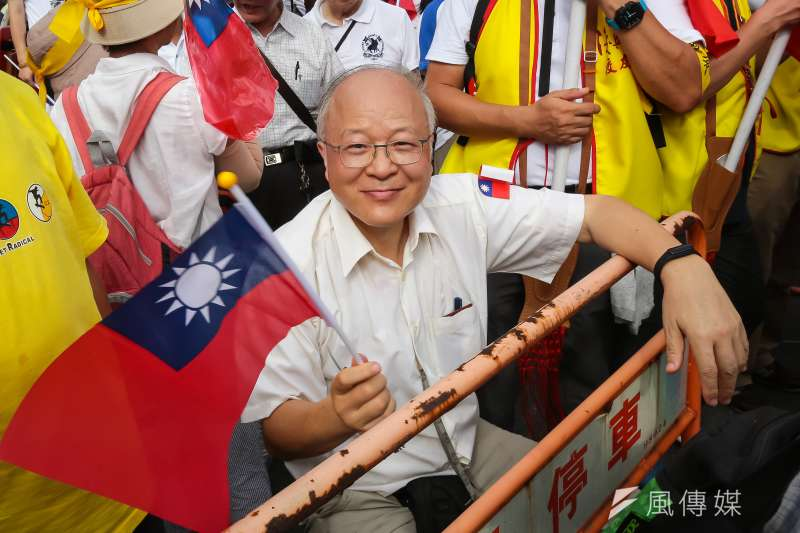 郭冠英說代表共產黨監督台灣選舉,又引起爭議。(顏麟宇攝)