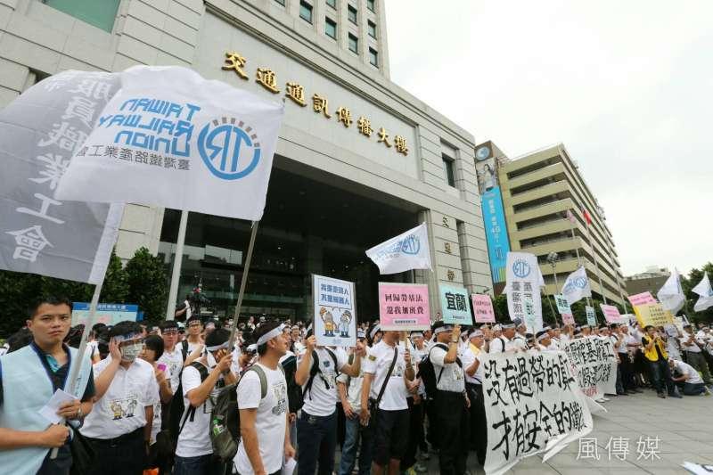 2016-09-06-台鐵產業公會交通部前抗議-陳明仁攝