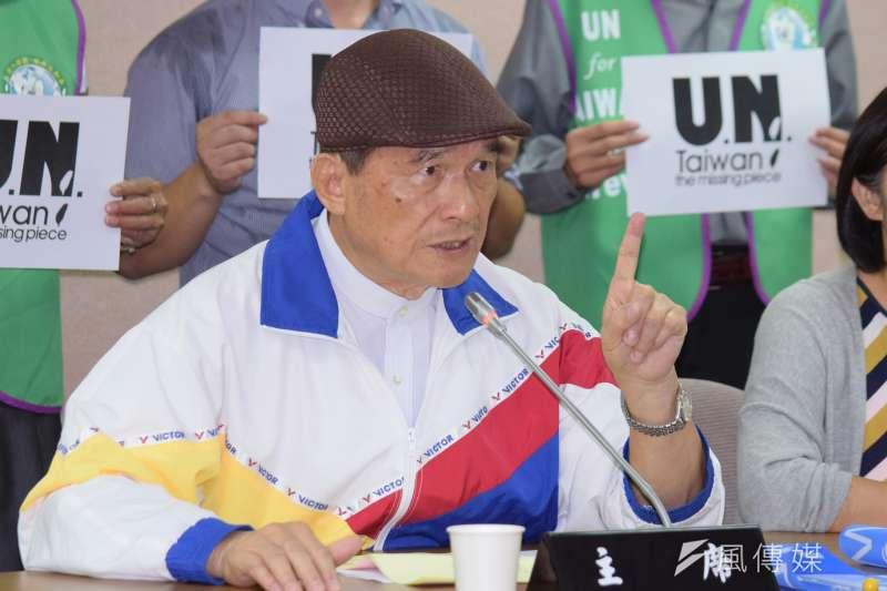 前國防部長蔡明憲18日表示,台灣面臨軍事威脅和少子化的挑戰,沒有實施全募兵制的空間,希望蔡英文不要只想著選票,應把國家安全擺在第一位。(資料照,陳伯聖攝)