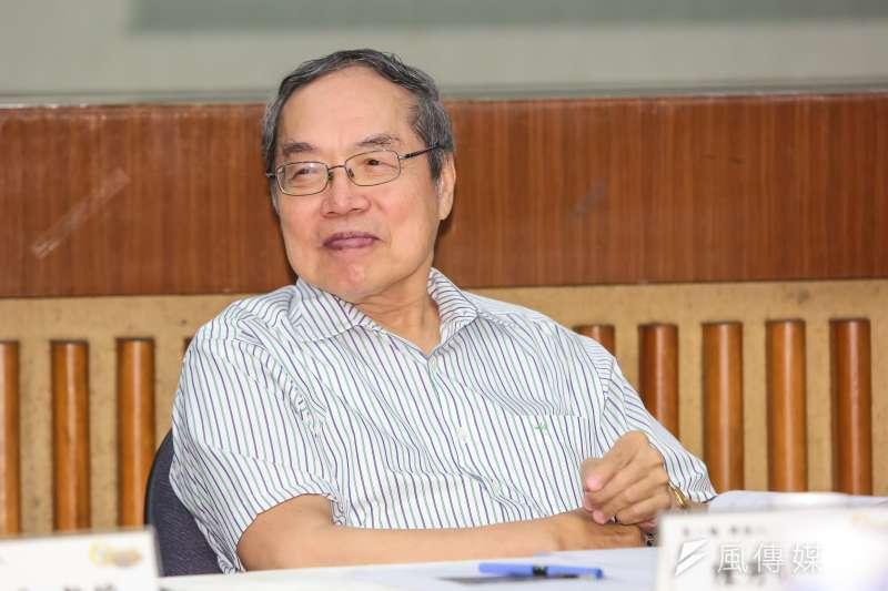 作家陳芳明(圖)針對姚文智說「綠」就是台灣價值表示,「把台灣價值說成是綠的,台北市民臉都綠了」。(資料照,顏麟宇攝)