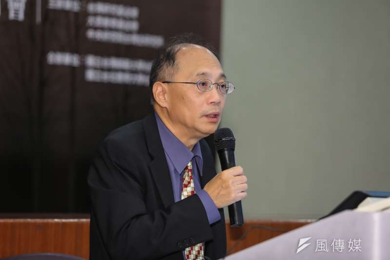 20160910-國史館長吳密察10日出席「台灣的悲愴年代─從皇民化到二二八」研討會。(顏麟宇攝)