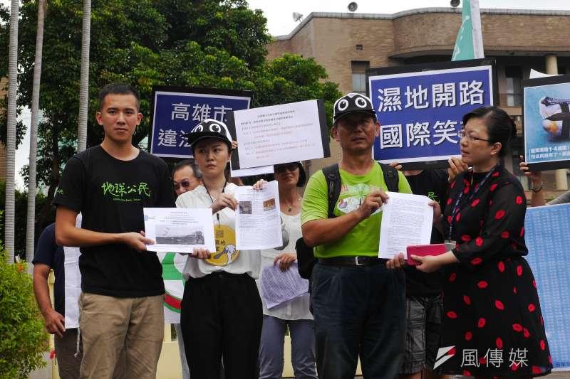 2016-09-12-地球公民基金會-環保團體抗議高雄茄萣濕地開闢道路05-洪與成攝