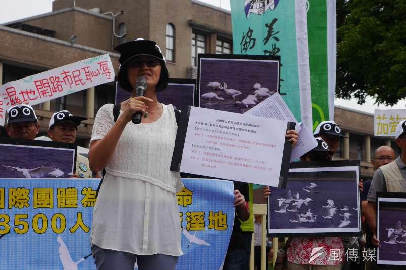 2016-09-12-地球公民基金會-環保團體抗議高雄茄萣濕地開闢道路-洪與成攝