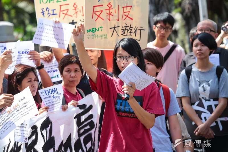 媒體日前報導蔡政府提的「最低工資法」草案,傾向將本外勞的最低工資脫鉤,台灣國際勞工協會對此表示不滿,並發聲明譴責蔡政府。(資料照,顏麟宇攝)
