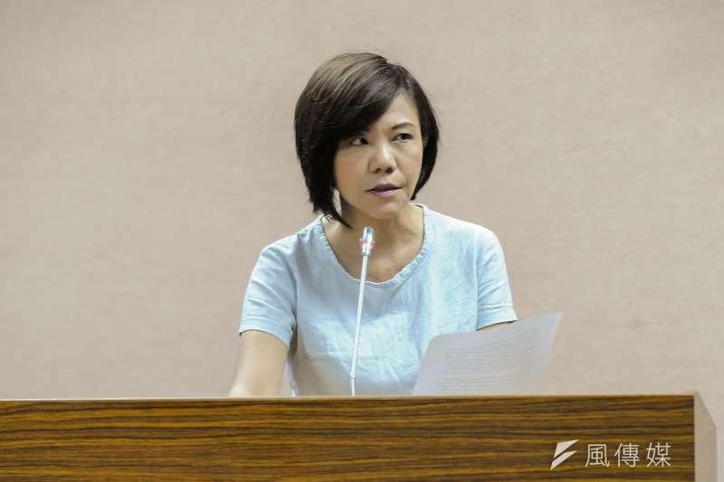 民進黨立委葉宜津以34票擊敗劉櫂豪33票,成功當選擔任民進黨團幹事長職務。(資料照,甘岱民攝。)