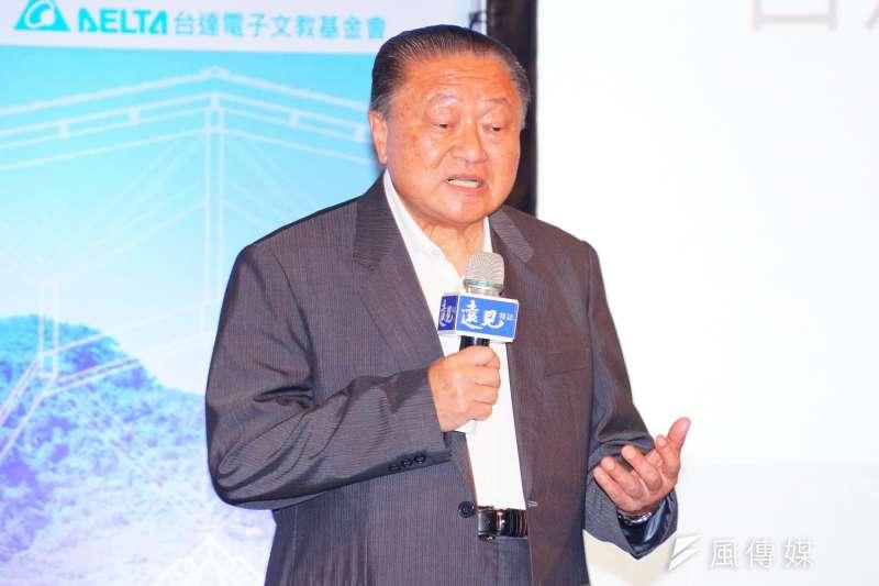 台達電創辦人鄭崇華表示,封存核四是非常錯誤的政策,讓台灣工業搞不起來。(資料照,盧逸峰攝)