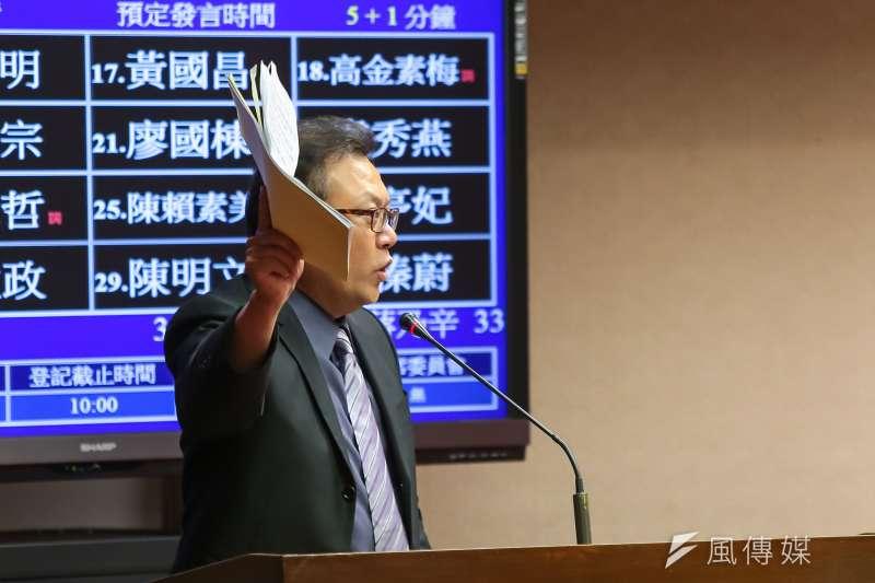 20160929-民進黨立委蘇震清29日於交通委員會質詢。(顏麟宇攝)