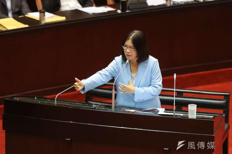 20160930-民進黨立委管碧玲30日於立院質詢。(顏麟宇攝)