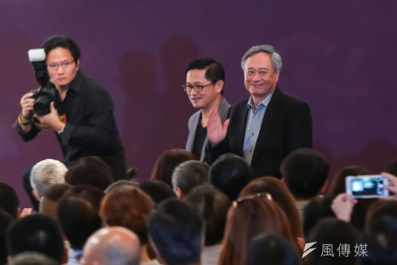 李安導演、和碩董事長童子賢出席「探索與創造」典範人物對談。(顏麟宇攝)