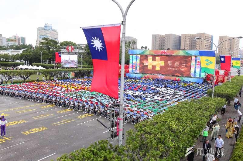 作者認為,中華民國已成失了魂魄。圖為中華民國105年國慶大會。(顏麟宇攝)