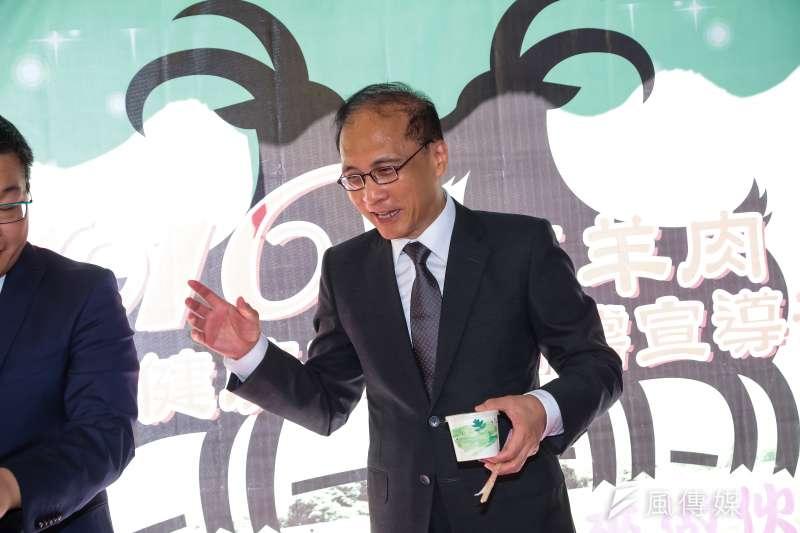 20161018-行政院長林全18日出席「彰化羊肉節」記者會。(顏麟宇攝)