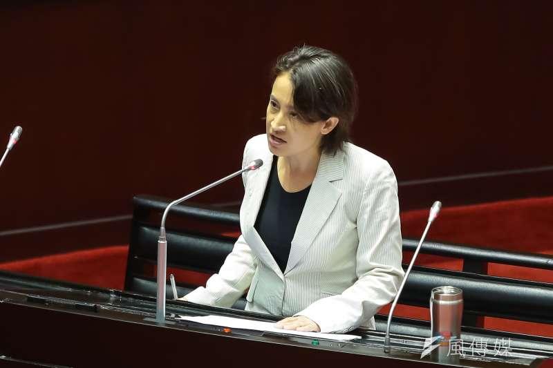 20161019-民進黨立委蕭美琴19日針對司法院大法官被提名人黃瑞明進行質詢。(顏麟宇攝)