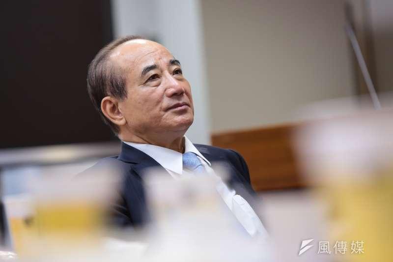 前立法院長王金平表示,為台灣奉獻,為黨盡責,是他一生從政的原則,不容任何人質疑,「我是百分之百的『藍皮台骨』!」(資料照,顏麟宇攝)
