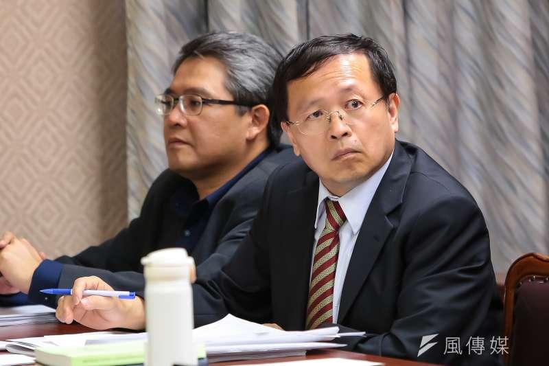 張天欽自甘東廠,摧毀了蔡政府「轉型正義」的正義性。(顏麟宇攝)