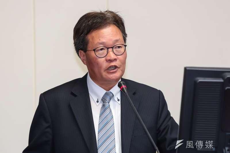 中油董事長陳金德列席立法院經濟委員會。(資料照片,顏麟宇攝)