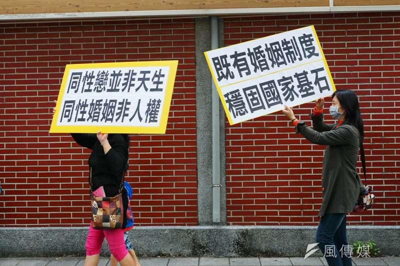 護家盟反同性婚姻。(資料照,盧逸峰攝)