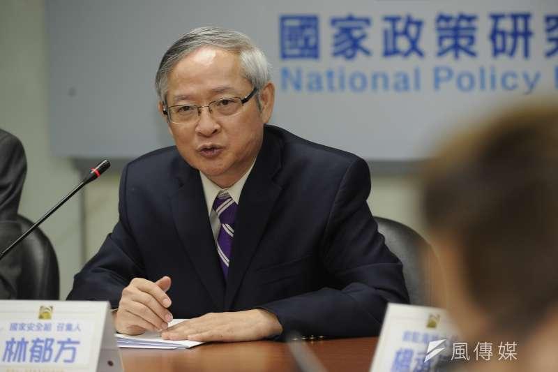 前國民黨立委林郁方今(19)日表示,他反對推行募兵制,但如今「徵兵制是回不去了」。(資料照,甘岱民攝)