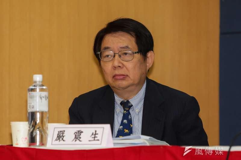 政治大學國際關係中心研究員嚴震生。(顏麟宇攝)