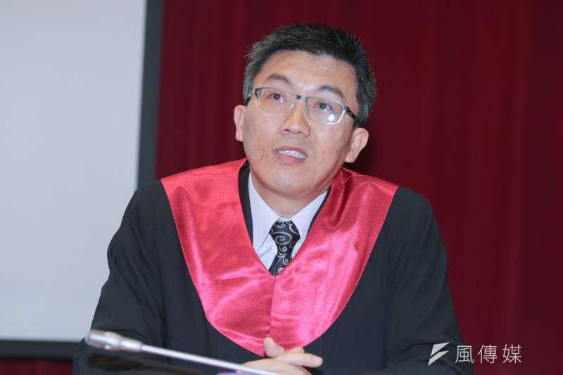 20161112-第三屆模擬憲法法庭記者會.大法官.2.林孟皇.(陳明仁攝)