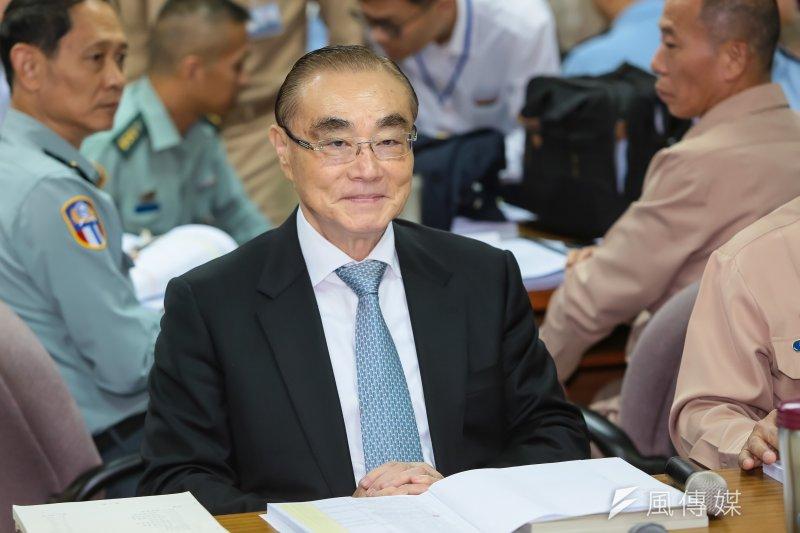 20161116-國防部長馮世寬16日於國防委員會備詢。(顏麟宇攝)