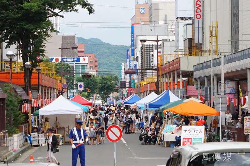 日本福島市街景。(盧逸峰攝)
