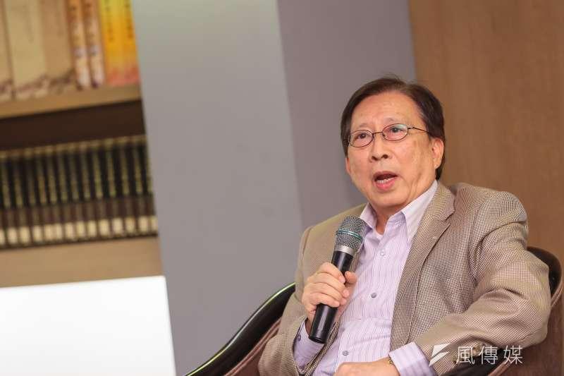 20161122-中華文化總會長劉兆玄22日出面召開記者會,宣佈辭去總會長一職。(顏麟宇攝)