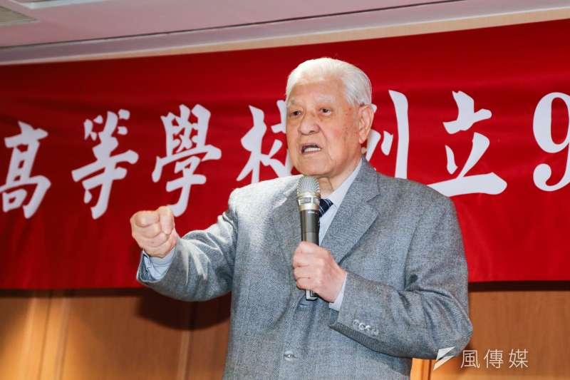 前總統李登輝出席「台北高校同學會年會」活動。(陳明仁攝)