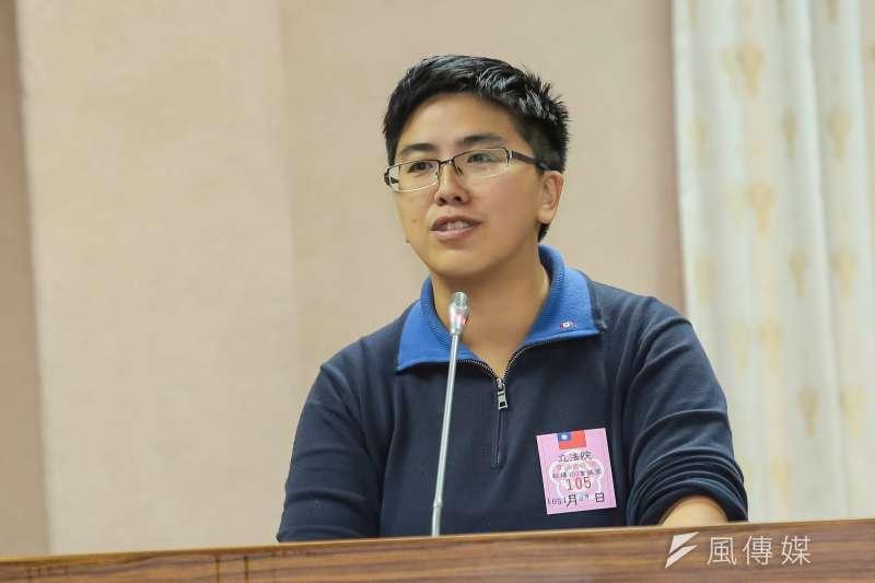 20161128-同志家長楊家敏28日出席立法院司法法制委員會公聽會。(顏麟宇攝)